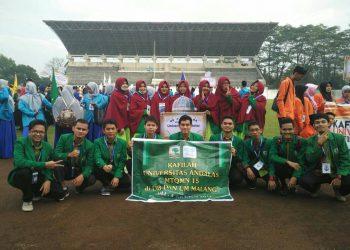 Kafilah Universitas Andalas dalam ajang MTQMN XV di Universitas Negeri Malang.