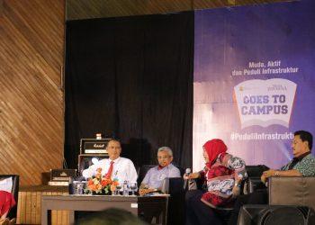 Talkshow yang menghadirkan beberapa pembicara, diantaranya Rektor Universitas Andalas (Unand), perwaklilan dari Semen Padang, Sekjen PUPR, Direktur Pemberitaan Media Indonesia