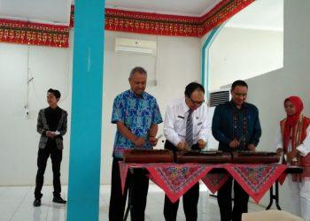 Peresmian Pembukaan acara PJTLN UKPM Teknokra Unila di aula Fakultas Pertani Unila, Sabtu (28/10/2017)
