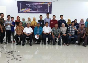 Kegiatan Agriculture Leader Club (ALC), dalam rangka Dies Natalis Fakultas Pertanian ke-63, di ruang sidang dosen lantai 3, Rabu (22/11/2017).