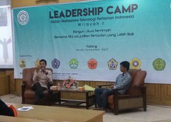 Suasana Leadership Camp di ruang seminar gedung F Unand, Kamis (23/11/2017).