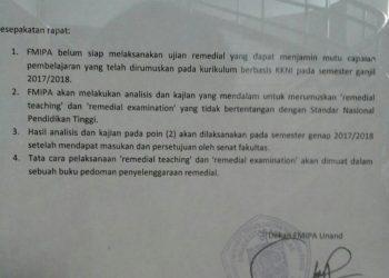 surat edaran dekan fmipa mengenai remedial.