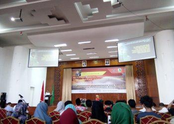 Kuliah umum bersama Kepala Badan Nasional Penanggulangan Terorisme (BNPT) di Gedung Convention Hall, Universitas Andalas, Padang (Jumat, 02/02/17)