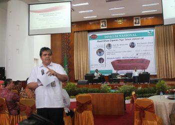 Diskusi Nasional Road Show Capaian Tiga Tahun Jokowi-Jk di Covention Hall Unand, Selasa (20/2/2018).