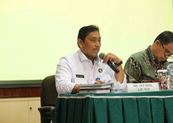 Kasubdit Per Undang-undangan Dit Hukum Dehuker Badan Narkotika Nasional Supardi dalam diskusi publik di Convention Hall Rabu (25/4/2018). (Foto: )