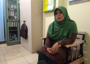 Ketua Jurusan Ilmu Keperawatan Yanti Puspita saat diwawancarai di Fakultas Keperawatan, Jumat (9/8/2019). (Foto: Linda Susanti)