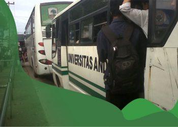 Bus kampus Unand tidak lagi beroperasi selama masa pandemi, Selasa (15/9/2020).
